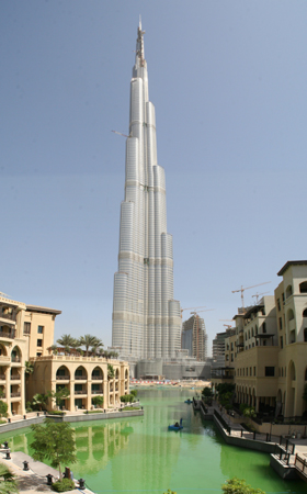 Burj Khalifa in Dubai is the world's tallest building
