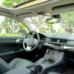 Interior of Lexus CT 200h