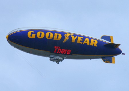 Goodyear's blimp Spirit of America
