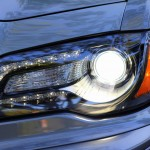 Headlight detail of 2012 Chrysler 300 SRT8