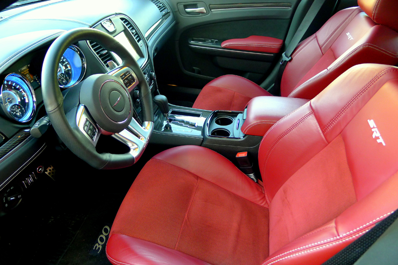 Worksheet. Red leather interior of 2012 Chrysler 300 SRT8  Alain Gayot