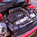 Turbo-charged motor of Mini Cooper S Coupe