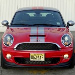 Front end view of Mini Cooper S Coupe