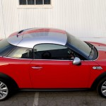 Top side view of Mini Cooper S Coupe