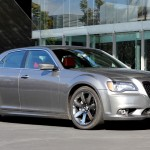 Three-quarter side view of 2012 Chrysler 300 SRT8