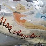 """Miss Angela"" B17 nose art"