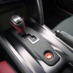 Gearshift of Nissan GT-R Black Edition