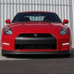 Front view of Nissan GT-R Black Edition