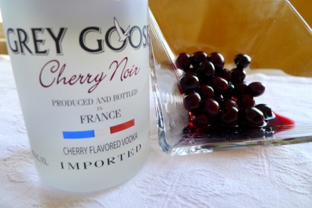 Grey Goose Cherry Noir with its component itasu cherries