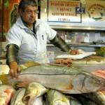 Proud fishmonger
