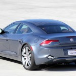 Three-quarter rear view of Fisker Karma