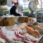 Fish and seafood stall
