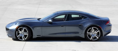 Side view of Fisker Karma