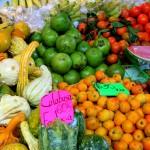 Fruits and squashes at the Mercado Juarez