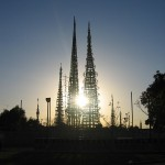 Watts Towers at sunset