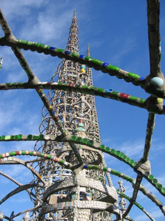 Watts Towers was built between 1921 and 1954