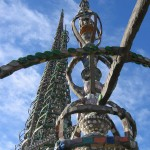 Much of Watts Towers is built from scrap rebar