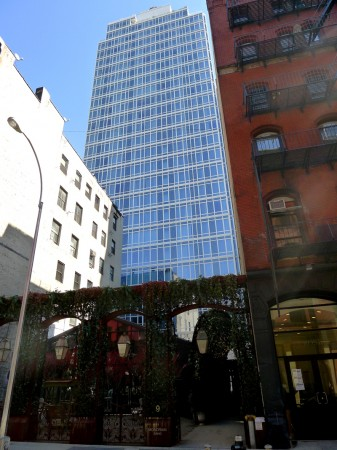 The tallest building in SoHo, the Mondrian SoHo Hotel