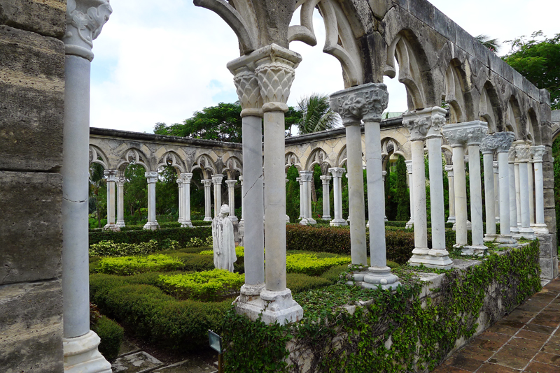 Pillars in the Garden at The Cloister at the Ocean Club on