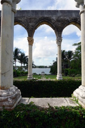View through the Arches of The Cloister at the Ocean Club on Paradise Island, The Bahamas