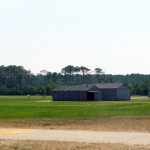 House and hangar where the Wright Brothers lived at Wright Brothers National Memorial