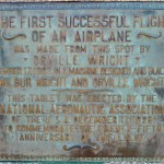Plaque for the first successful flight at the Wright Brothers National Memorial