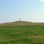 A memorial in Kill Devil Hills marking where many of the Wright Brothers experiments took place
