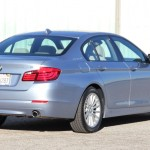 Three-quarter rear view of the BMW ActiveHybrid 5