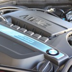 The twin-turbocharged inline 6-cylinder engine of the BMW ActiveHybrid 5
