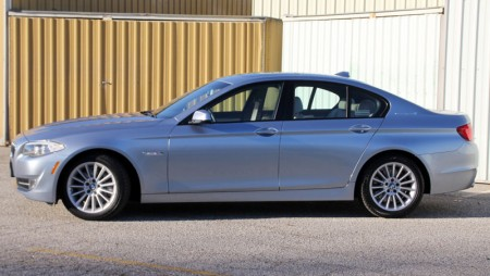 Side view of the BMW ActiveHybrid 5