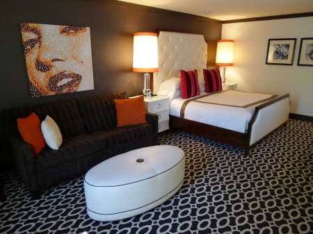 A Bedroom at the Riviera Palm Springs Hotel