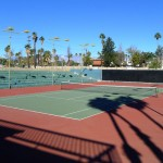 Tennis Court at the Riviera Palm Springs Hotel