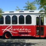 Take a ride with the Riviera Palm Springs Hotel Trolley
