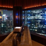 Public bathroom with a view at The Upper House, Hong Kong