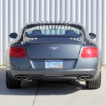 Rear view of the Bentley Continental GT V8