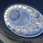 Headlight of the Bentley Continental GT V8
