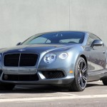 Three-quarter front view of the Bentley Continental GT V8