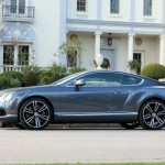 Side view of the Bentley Continental GT V8