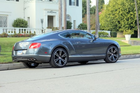 Three-quarter back view of the  Bentley Continental GT V8