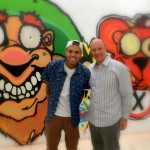 Alain Gayot has a Quick Chat with Chris Brown at MB Galleries in Los Angeles