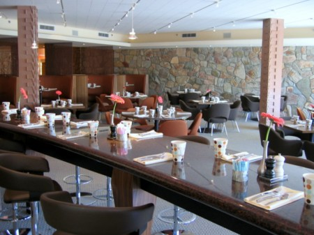 Communal Table at ZuZu inside Hotel Valley Ho in Scottsdale, AZ