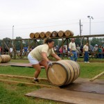 Barrel Rolling Competition at the Annual Kentucky Bourbon Festival in Bardstown, Kentucky