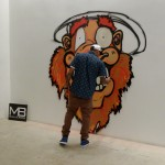 Interactive Mural by Chris Brown at MB Galleries in Los Angeles