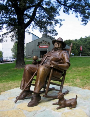 Statue of Booker Noe, Great Grandson of Jim Beam, in Bardstown, Kentucky