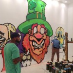 Two Artists Working Hard on Phase Two at MB Galleries in Los Angeles
