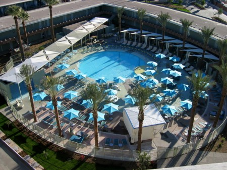 Top View of the Pool at the Hotel Valley Ho in Scottsdale