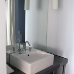 Designer bathroom fixtures by Kohler at Tower23 Hotel in San Diego, CA