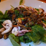 Pan-seared octopus & calamari antipasto from Bestia