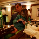 Mauro Maccioni and his daughter Stella at Sirio Ristorante in New York City