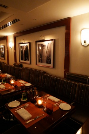 A table at the elegant Sirio Ristorante at The Pierre hotel in New York City